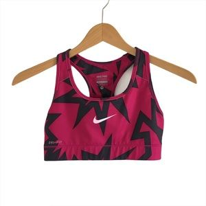 Nike Pro Dri-Fit Pink & Grey Zig Zag Sports Bra